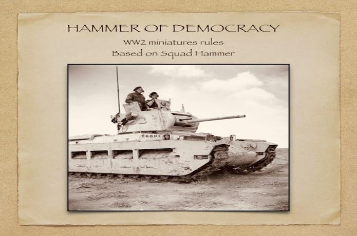 Hammer of Democracy - WW2 Miniatures rules  | Indiegogo