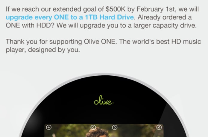 Olive ONE: All-in-One Home Music Player  Designed by you