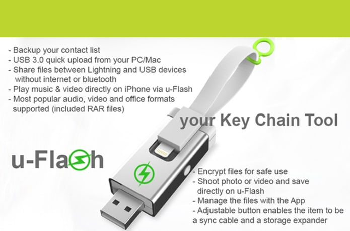 u-Flash - the USB Flash Drive with Charge and Sync | Indiegogo
