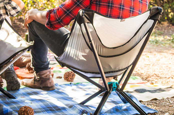 Stupendous Cliq Chair The Bottle Sized Portable Chair Indiegogo Lamtechconsult Wood Chair Design Ideas Lamtechconsultcom