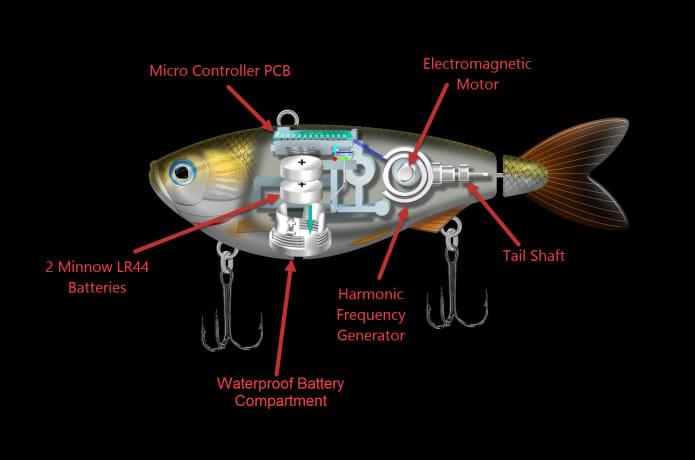 The Worlds 1st Fully Motorized Fishing Lure   Indiegogo