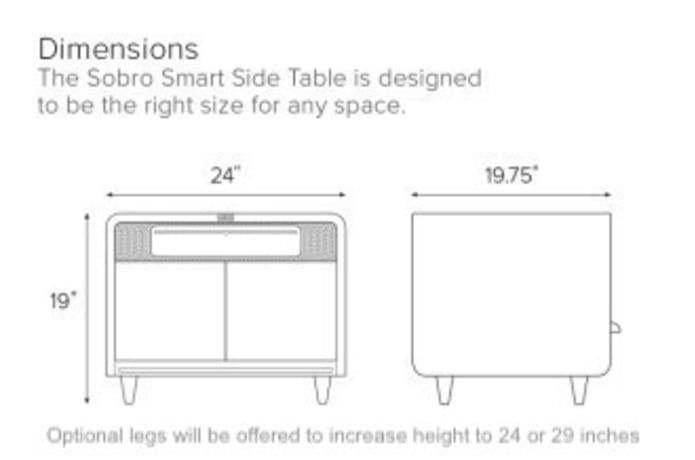 Sidetable 3 Meter.Sobro Smart Side Table Indiegogo