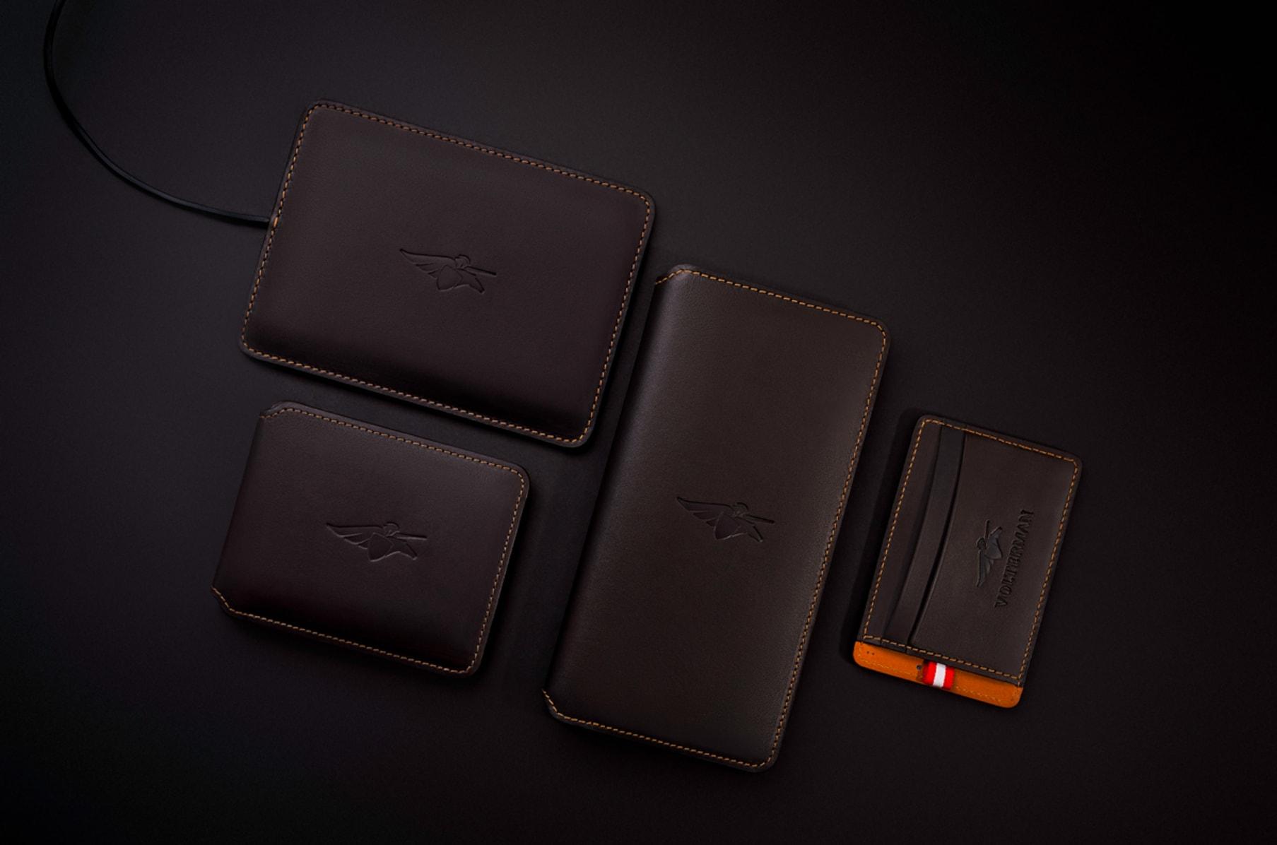Men/'s Bluetooth Smart Leather Wallet w// USB PowerBank