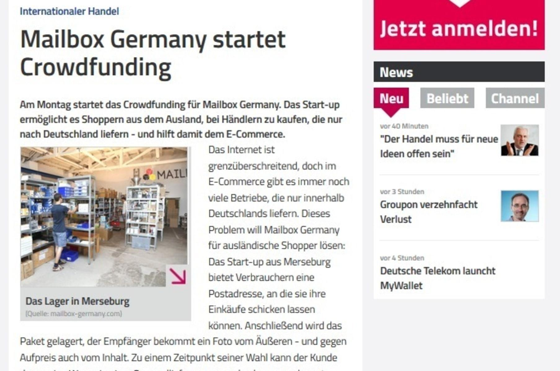 Mailbox Germany Indiegogo