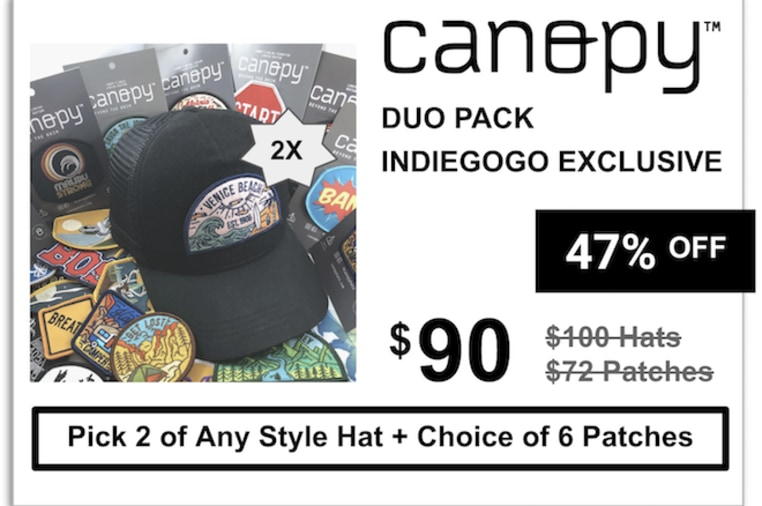 e2b270078a5c09 Canopy: Sustainable Hats & Interchangeable Patches | Indiegogo