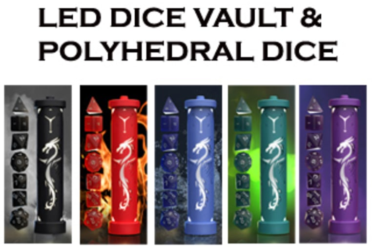 DRAGON FORGED - Polyhedral Dice and LED Dice Vault | Indiegogo