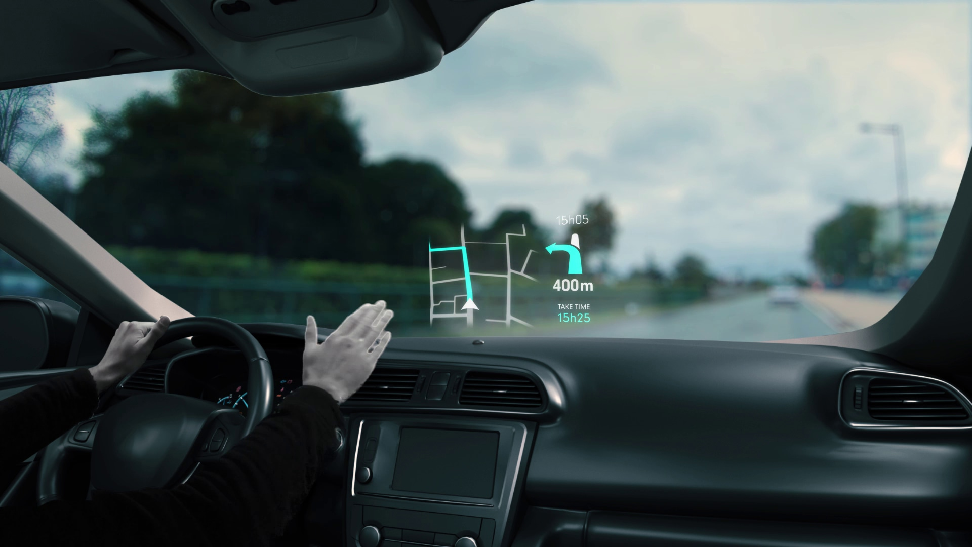 Using your phone while driving multiplies your chances of having an accident by 23. Our gesture control system allows you to interact with your apps and at the same time to keep your eyes on the road.